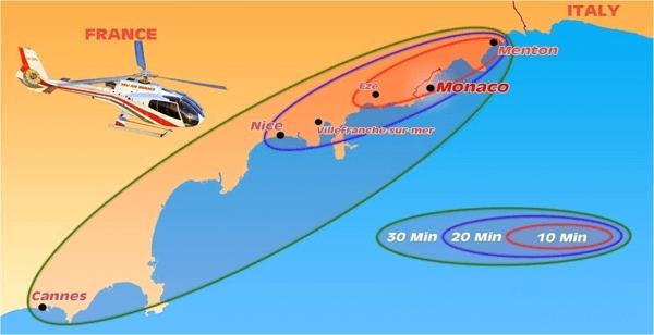 Helikopter Rundfüge Monaco Route