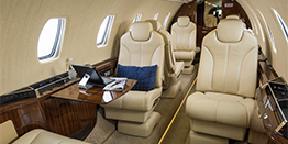Super Midsize Jet Interior